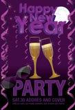 Cartão do partido do ano novo feliz Imagens de Stock Royalty Free