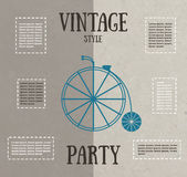 Cartão do partido do vintage Fotografia de Stock