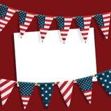 Cartão do partido dos EUA Fotos de Stock Royalty Free