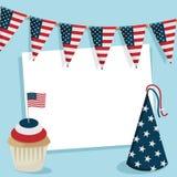 Cartão do partido dos EUA Foto de Stock