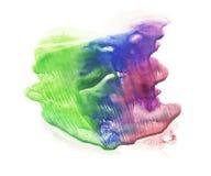 Cartão do ponto da aquarela da abstração do teste da mancha de tinta do rorschach Colorido isolado na imagem branca foto de stock royalty free
