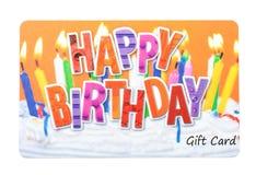 Cartão do presente de aniversário Imagens de Stock