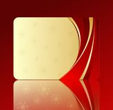 Cartão do presente de feriado Imagens de Stock Royalty Free