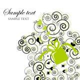 Cartão do presente de Swirly ilustração stock