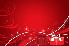 Cartão do presente do Feliz Natal ilustração royalty free