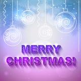 Cartão do presente do feriado do vetor com brinquedos do Natal Fotos de Stock