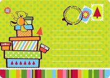 Cartão do presente do Natal ilustração royalty free