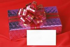 Cartão do presente e de Natal fotografia de stock