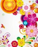 Cartão do presente. Fundo floral do projeto. ilustração do vetor