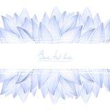 Cartão do projeto das pétalas de Lotus Imagens de Stock