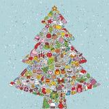 Quadrado da árvore de Natal ilustração royalty free