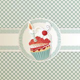 Cartão do queque Foto de Stock Royalty Free