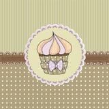 Cartão do queque Imagem de Stock Royalty Free