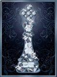 Cartão do rei da xadrez do diamante ilustração royalty free