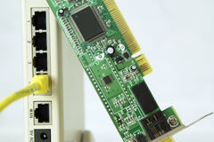 Cartão do router e de rede Imagens de Stock Royalty Free