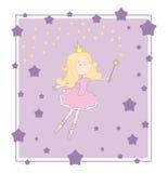 Cartão do roxo da princesa Imagens de Stock Royalty Free