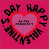 Cartão do `s do Valentim fotografia de stock royalty free