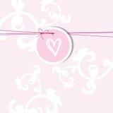 Cartão do ` s do Valentim com espaço da cópia ilustração do vetor