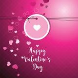Cartão do ` s do Valentim com espaço da cópia molde Eleme do projeto gráfico ilustração stock