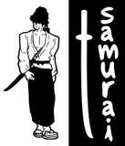 Cartão do samurai Imagem de Stock