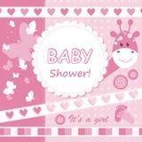 Cartão do scrapbook do bebé do vetor Imagem de Stock Royalty Free
