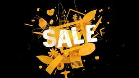Cartão do sinal da venda Imagem de Stock Royalty Free