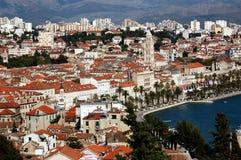 Cartão do Split, Croatia Imagens de Stock