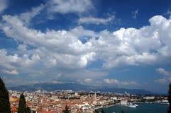 Cartão do Split, Croatia Foto de Stock Royalty Free