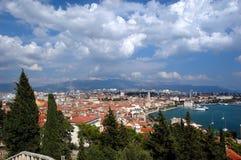 Cartão do Split, Croatia Fotografia de Stock Royalty Free