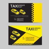 Cartão do táxi para taxistas Serviço do táxi Molde do cartão do vetor Empresa, tipo, marcando, identidade, logotype Imagens de Stock