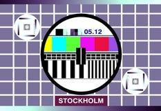 Cartão do teste da tevê Fotografia de Stock Royalty Free