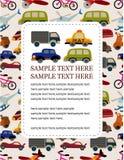 Cartão do transporte dos desenhos animados Fotos de Stock