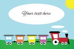 Cartão do trem do brinquedo Imagens de Stock