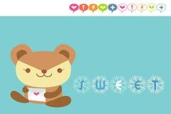 Cartão do urso ilustração royalty free