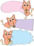 Cartão do urso do urso de gato ilustração royalty free
