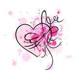 Cartão do Valentim Fotografia de Stock