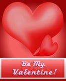 Cartão do Valentim Imagens de Stock