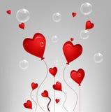 Cartão do Valentim com bolha ilustração do vetor