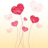 Cartão do Valentim com corações Imagem de Stock Royalty Free
