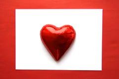 Cartão do Valentim com os doces dados forma coração Foto de Stock Royalty Free