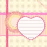 Cartão do Valentim de Scrapbooking Imagens de Stock