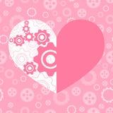 Cartão do Valentim do cumprimento Foto de Stock Royalty Free