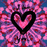Cartão do Valentim do Grunge Fotografia de Stock