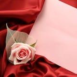 Valentine Card - vermelho e rosa fotografia de stock royalty free