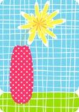 Cartão do vaso de flor Fotos de Stock Royalty Free