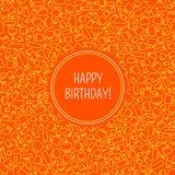 Cartão do vetor com aniversário Imagens de Stock