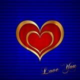 Cartão do vetor com corações Fotografia de Stock