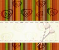 Cartão do vetor com corações da pérola Fotos de Stock Royalty Free