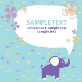 Cartão do vetor com elefante Imagens de Stock