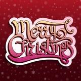 Cartão do vetor com Feliz Natal das citações Imagens de Stock